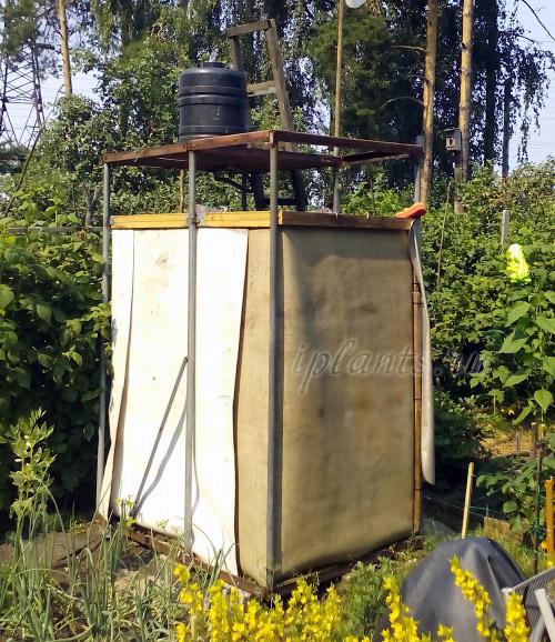 дачный душ из металлоконструкций