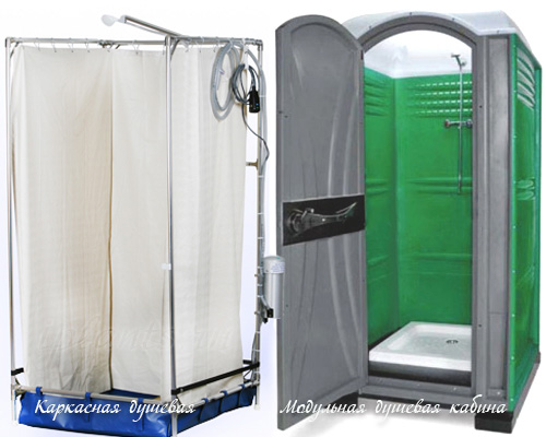 модульный душ, каркасный душ для дачи